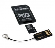 Карта памяти MicroSDHC 16GB Kingston MBLY10G2/16GB Class10 + SD adapter + USB reader